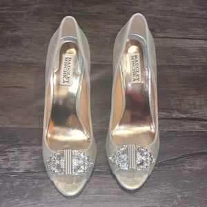 Badgley Mischka size 8 M bejewled heels.